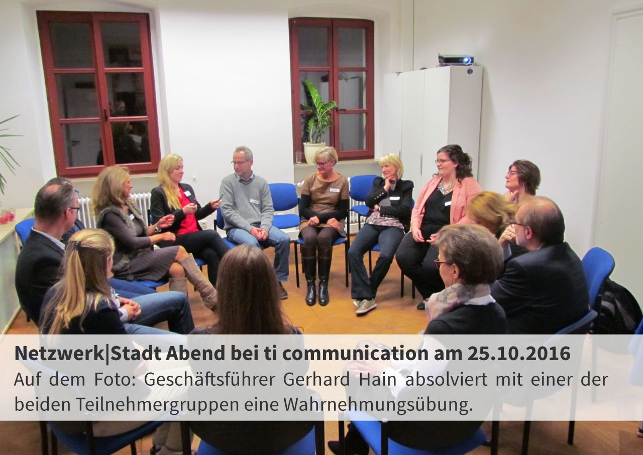 Rückblick: Netzwerk|Stadt Abend am 25.10.2016 bei ti communication