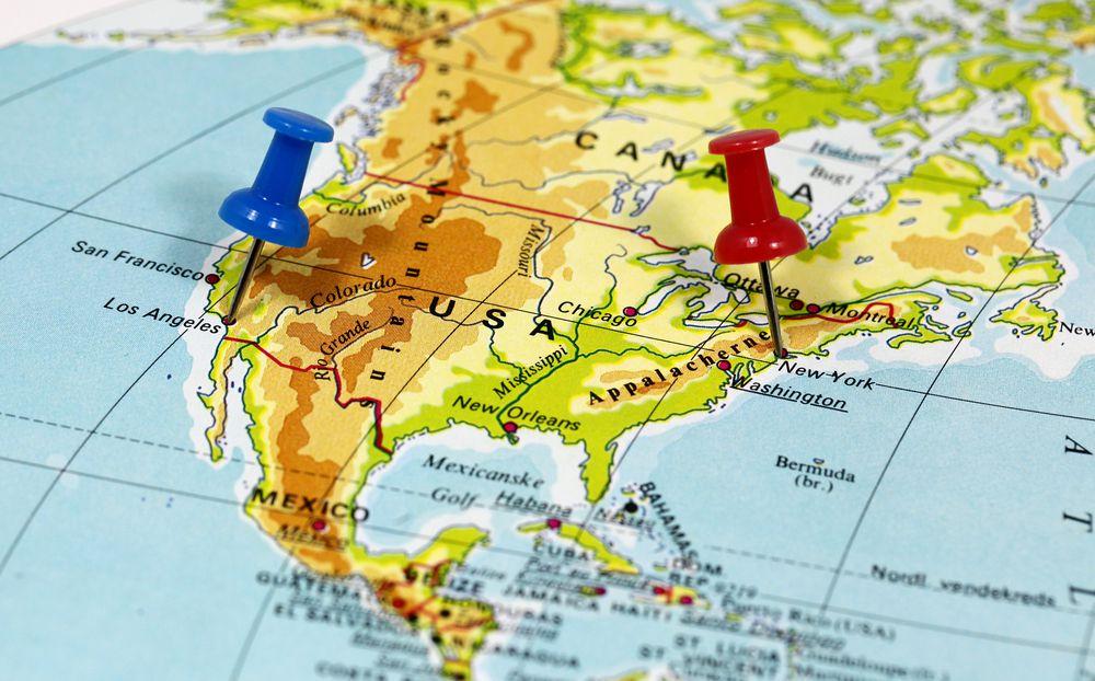 USA-Landkarte